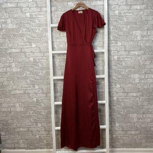 Show Me Your Mumu Noelle Wrap Dress Size Medium